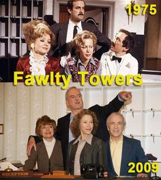 #thenandnow #then&now #nostalgia #fawltytowers #johncleese