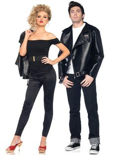 Here we provide you latest updates collection of Halloween Costumes for Couples with images. Halloween is also call as Hallowe'en, Allhallowe'en, All Hallows' Eve, All Saints' Eve. This day is celebrate in lots of countries on 31 October. Grease Couple Costumes, Sandy Grease Costume, Cute Couples Costumes, Diy Costumes, Costume Ideas, Costumes 2015, Funny Couples, Group Costumes, Fancy Dress Costumes Couples
