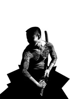 "Amazing illustration drawn with a ball point pen by Shohei Otomo. A modern day artist and son of Katsuhiro Otomo who created & directed the classic anime film ""Akira"" Japanese Pop Art, Japanese Artists, Japanese Culture, Samurai Art, Samurai Warrior, Samurai Poses, Pen Illustration, Illustrations, Akira"
