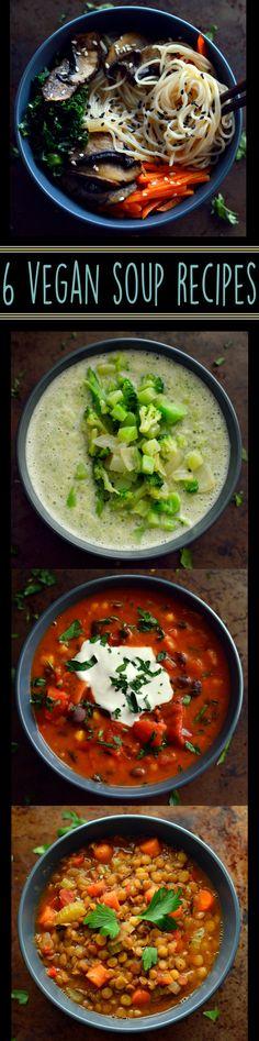 6 Vegan Soup Recipes - Easy Cheap - Rich Bitch Cooking Blog