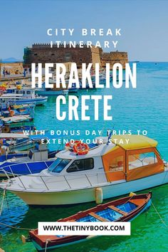 1-3 Days in Heraklion, Crete: Discover the best of this Cretan city with a flexible itinerary for 1, 2, or 3 days in Heraklion. Bonus day trips for extra days in the Heraklion region   What to do in Heraklion   Best things to do in Heraklion   Knossos Palace   Beaches in Heraklion Crete.