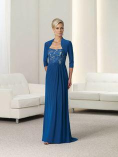 mother of the bride dresses plus size | ... Line Appliques With Jacket Navy Mother Of The Bride Dress Plus Size