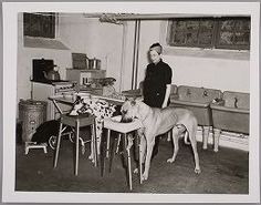 Joseph Janney Steinmetz, Untitled (woman with two Great Danes, Pennsylvania), 1939, printed later, Harvard Art Museums/Fogg Museum.