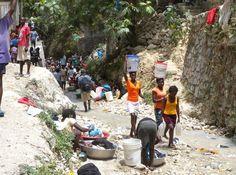 Urban water collection in Haiti