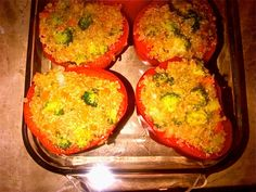 KS-Tried and true Beauty Detox recipe: Quinoa-stuffed Red Peppers. Made it for everyone tonight with a mustard-based mixed green salad... My husband loved it!
