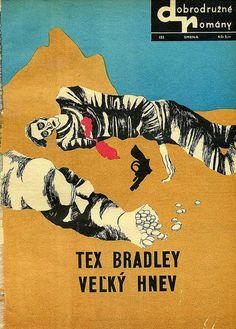 Slovak book cover, 1969, Tex Bradley - Velky Hnev (Big Anger)