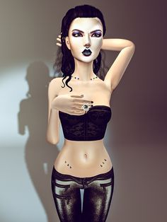 I know I look like a gothic blood doll. But when you plant piercing in my stomach and into my neck, it's extremely painful. Let you will love. I love it. Secondlife fashion credit : Hair : .:EMO-ti...