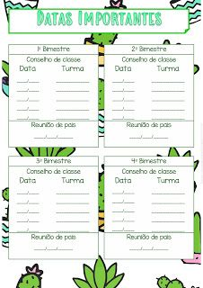 Pedagogas da paz: Planner gratuito Cactos 2020, Planner Cactos Para uso do Professor Imprimir - Planner para download gratuito - planner 2020 para imprimir First Day Of School, Pre School, New Years Eve Party, Personal Trainer, Teacher, Journal, Planners, Download, Silhouette