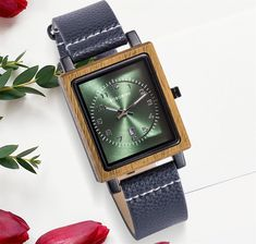 Women's Leather Strap Square Wood Watch —-> $ 49.99 & Virtually FREE Shipping Tag a friend who would love this! #mywatchplus #luxurywatches #fashion #fashionmenstyle #womenwatches #luxurywatches Free Base, Wooden Watch, Perfect Gift For Her, Square Watch, Luxury Watches, Watches For Men, Mens Fashion, Band, Bracelets