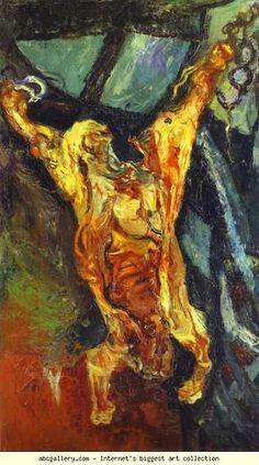 Chaim Soutine - Carcass of Beef (Boeuf - Hommage à Rembrandt). Rembrandt, Emil Nolde, Rainer Fetting, Chaim Soutine, Francis Bacon, Sam Francis, Modigliani, Plastic Art, Monet