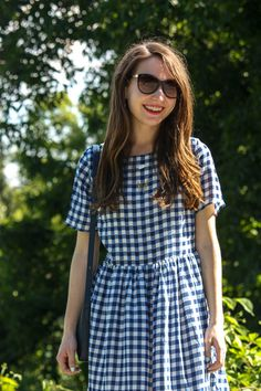 Caralina Style: Blue Gingham on the Blue Ridge Parkway
