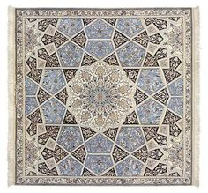 Nain extra fine, wool and silk - Iran 158 x 158  I Amir Rasty & filles - Oriental carpets in Geneva