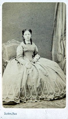 """Infanta Isabel, daughter of Queen Isabel II of Spain, ca. late 1860s. via Gods & Foolish Grandeur. """