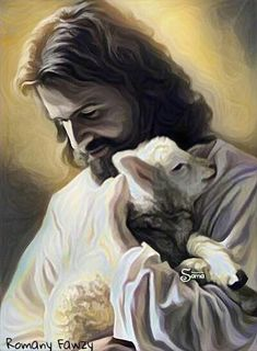 """""""Jesus Christ, Lord of all things! You see my heart, you know my desires. Please possess all that I am----You alone. I am your sheep, .make me worthy to overcome the devil. Pictures Of Jesus Christ, Jesus Christ Images, Religious Pictures, Jesus Art, Catholic Art, Religious Art, Image Jesus, Religion Catolica, Jesus Painting"""