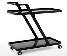Because it's always a good idea to have a sleek black serving cart on hand.