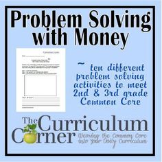 Freebie problem solving with money problems Money Problems, Word Problems, Teaching Money, Teaching Art, Teaching Ideas, Problem Solving Activities, 3rd Grade Math, Third Grade, Common Core Math