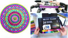 Winsor & Newton Promarkers Review // Mandala Coloring & Some tips