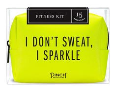 Survival of the fittest. Stash this 15-piece Fitness Kit by Pinch Provisions in your gym bag and focus on what matters: having a great workout! From emergency s