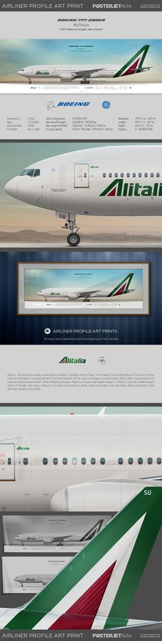 Boeing Alitalia I-DISU Named: Madonna di Campiglio / Alberto Nassetti Aviation Engineering, Boeing 777, Cabin Crew, Cutaway, Spacecraft, Airplane, Transportation, Aircraft, Ships