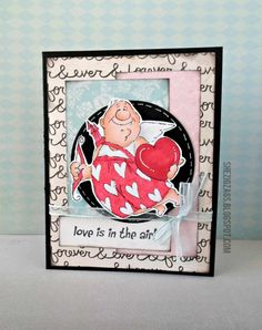Val Set from Art Impressions.  Valentine's Day cupid card.