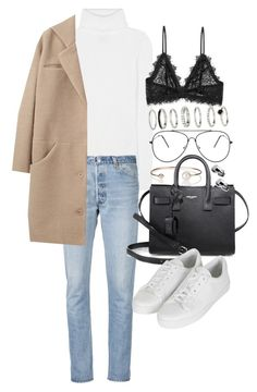 """Untitled #20637"" by florencia95 ❤ liked on Polyvore featuring 3.1 Phillip Lim, RE/DONE, Cacharel, Letters By Zoe, Yves Saint Laurent, Topshop and Anine Bing"