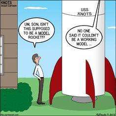 Model Rockets - KNOTS Scout Cartoon for September 2015