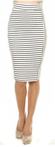 NAUTICAL STRIPE PENCIL SKIRT