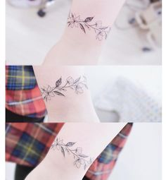 "7,452 Likes, 28 Comments - Tattooist Banul (@tattooist_banul) on Instagram: "": Flower bracelet 🌸 . . #tattooistbanul #tattoo #tattooing #flower #flowertattoo  #bracelet…"""