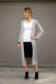 Elegant Winter Outfits Ideas With Boots And Skirts 46