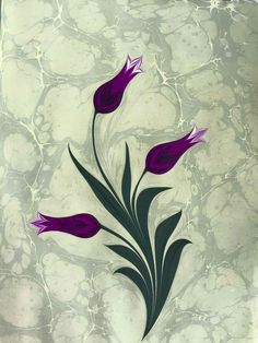 Marble Painting, Marble Art, Painting & Drawing, Plum Art, Ebru Art, Sketchbook Drawings, Wood Burning Art, Turkish Art, Botanical Illustration
