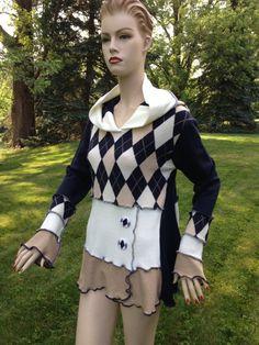 RESERVED FOR FRANCY Elf Hoodie Sweater Large by DesignbyNatalia