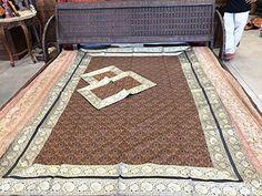 Indian Bedspread Brocade Silk Sari Brown Bedding Sofa Throw Boho Bedcover Twin Sz Mogul Interior http://www.amazon.com/dp/B00WBGRQD0/ref=cm_sw_r_pi_dp_squIvb1NMNAMT