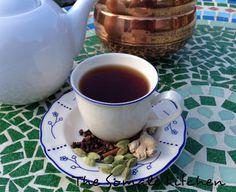 Somali Shaah--Somali tea with cinnamon, cloves, ginger, cardamom, and black tea leaves.