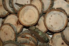 20  Wood Slices 4 inches Tree Slices Wedding by rogersshop on Etsy, $20.00