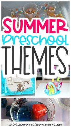These exciting summer preschool themes are perfect for adding some quick Sensory Activities Toddlers, Kids Learning Activities, Fun Learning, Learning Skills, Early Learning, Summer Preschool Themes, Craft Projects For Kids, Diy Projects, Before Kindergarten