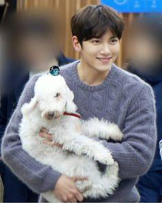 Ji Chang Wook and his dog Ggoma