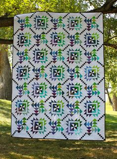 Main Street Quilt Pattern - That's a LOT of flying geese, but I like the movement of the pattern.