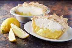 This Lemon Meringue Pie Small Batch recipe has a sweet and tart lemon filling topped with creamy lightly browned meringue in a homemade crust. This cute little delicious dessert serves 2. Plan ahead as this pie needs to cool completely before serving. #lemon #meringue #LemonMeringuePie #pie #SmallBatch #DessertForTwo #RecipesForTwo