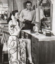 Ava Gardner and George Raft in Whistle Stop, 1946.