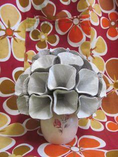 egg tray flower