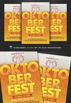 Oktoberfest Flyer. Flyer Templates. $8.00