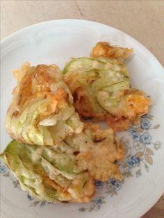 Fiori di zucchine in tempura