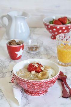 Porridge de plátano y canela