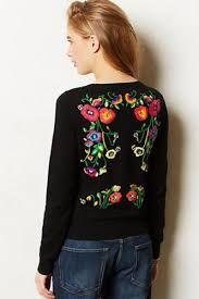 Resultado de imagen de zara floral embroidered sweater