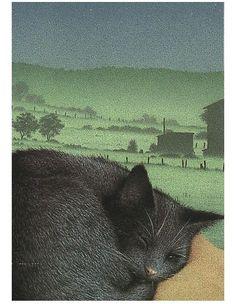 Postkaart (A6) van Inkognito. Met laklaag waardoor de kaart flink glimt. De kleuren die Inkognito gebruikt zijn heel herkenbaar, meestal wat donkerder dan normaal en schilderachtig.