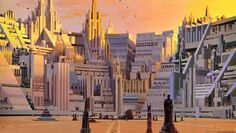Images from The Art of Ralph McQuarrie - Wookieepedia, the Star Wars Wiki Ralph Mcquarrie, Fantasy Comics, Sci Fi Fantasy, Art Science Fiction, Monument Park, Sci Fi Spaceships, Star Wars Concept Art, Star Wars Rpg, Star Trek