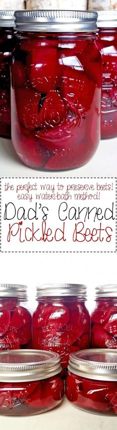 Old fashioned canned pickled beets; great to preserve your fall harvest.