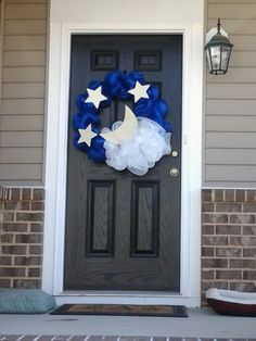 Twinkle Twinkle Little Star Wreath by Party Decor Boutique Diy Birthday Decorations, Star Decorations, Baby Boy Themes, Baby Shower Themes, Shower Ideas, 2nd Baby Showers, Baby Boy Shower, Twinkle Twinkle Little Star, Baby Boy Wreath