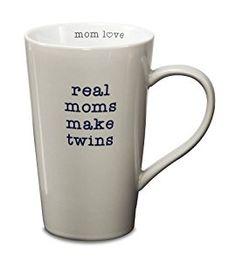 Amazon.com   Pavilion Gift Company 14015 Stoneware Mug, Real Moms Make Twins: Coffee Cups & Mugs