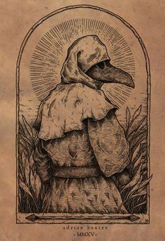 Works by Adrian Baxter La Danse Macabre, Macabre Art, Medieval Drawings, Medieval Art, Medieval Tattoo, Arte Horror, Horror Art, Dark Fantasy Art, Dark Art